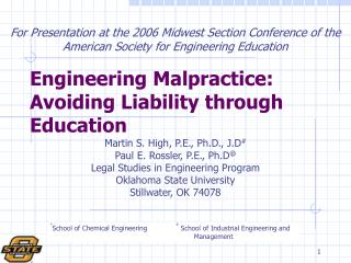 Engineering Malpractice: Avoiding Liability through Education