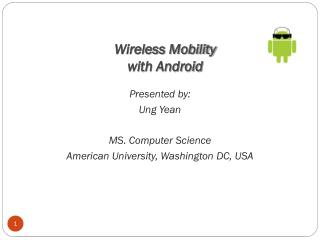 Wireless Mobility  with Android
