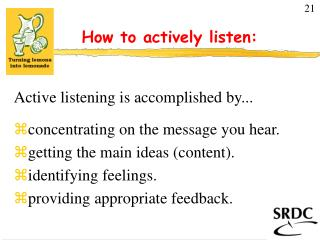 How to actively listen: