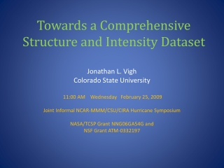 Towards a Comprehensive Structure and Intensity Dataset