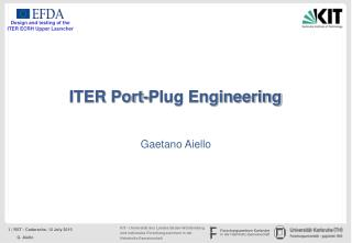 ITER Port-Plug Engineering