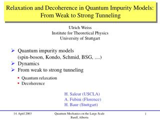Relaxation and Decoherence in Quantum Impurity Models: From Weak to Strong Tunneling