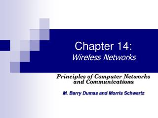 Chapter 14: Wireless Networks