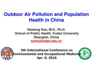 Outdoor Air Pollution and Population Health in China