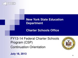 New York State Education Department Charter Schools Office