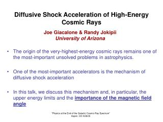 Diffusive Shock Acceleration of High-Energy Cosmic Rays