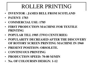 ROLLER PRINTING