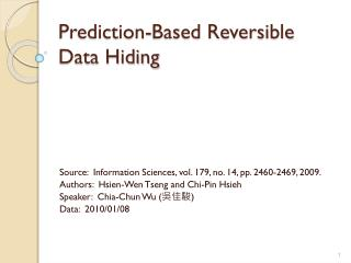 Prediction-Based Reversible Data Hiding