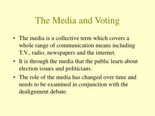 The Media and Voting