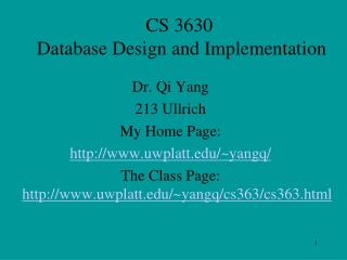 CS 3630   Database Design and Implementation