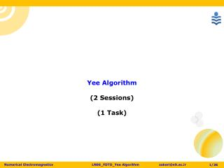 Yee  Algorithm (2 Sessions) (1 Task)