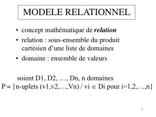 MODELE RELATIONNEL