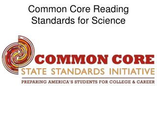 Common Core Reading Standards for Science