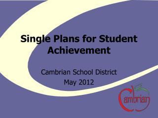 Single Plans for Student Achievement