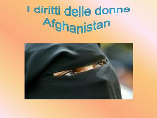 I diritti delle donne Afghanistan