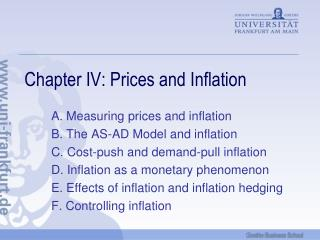 Chapter IV: Prices and Inflation