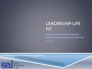 Leadership-Life Fit