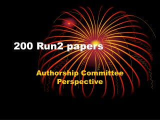 200 Run2 papers