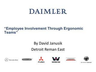 """Employee Involvement Through Ergonomic Teams"""
