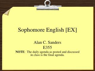 Sophomore English [EX]