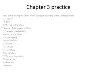 Chapter 3 practice
