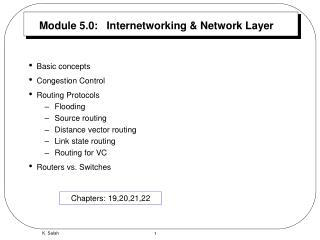 Module 5.0:   Internetworking & Network Layer