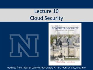Lecture  10 Cloud Security