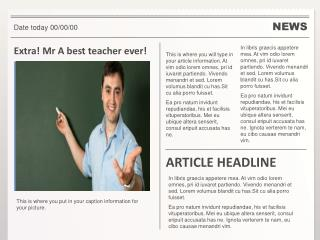 Extra!  Mr  A best teacher ever!
