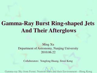 Gamma-Ray Burst Ring-shaped Jets  And Their Afterglows