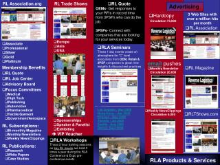 RLA Products & Services