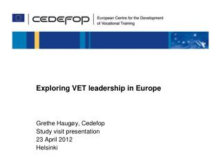 Exploring VET leadership in Europe