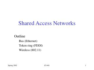 Shared Access Networks