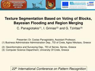 Texture Segmentation Based on Voting of Blocks, Bayesian Flooding and Region Merging
