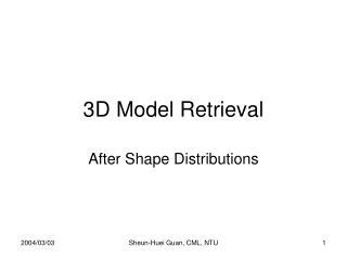 3D Model Retrieval