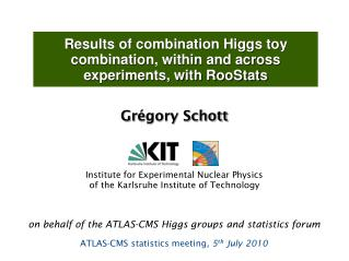 Results of combination Higgs toy combination, within and across experiments, with RooStats