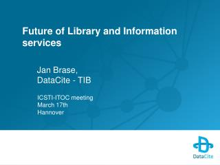Future of Library and Information services