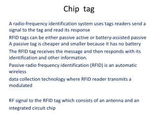 Chip  tag