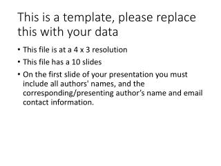 This is a template, please replace this with your data