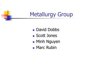 Metallurgy Group