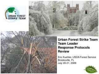 Urban Forest Strike Team Team Leader Response Protocols Review