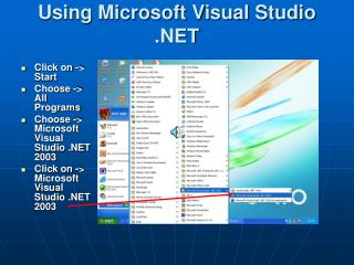 Using Microsoft Visual Studio .NET