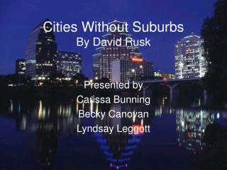 Cities Without Suburbs By David Rusk