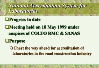 National Accreditation System for Laboratories