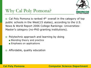 Why Cal Poly Pomona?