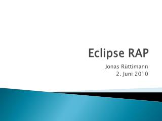 Eclipse RAP