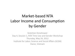 Market-based NTA  Labor Income and Consumption  by Gender