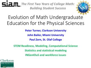 Evolution of Math Undergraduate Education for the Physical Sciences