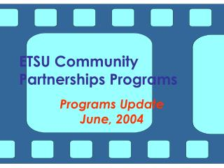 ETSU Community Partnerships Programs