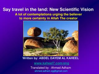 Written by: ABDEL DAYEM AL  KAHEEL www.kaheel7.com/eng Translated  by : Ahmed  Adham  ahmed.adham.eg@gmail.com