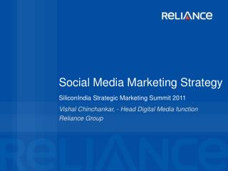 Social Media Marketing Strategy SiliconIndia Strategic Marketing Summit 2011